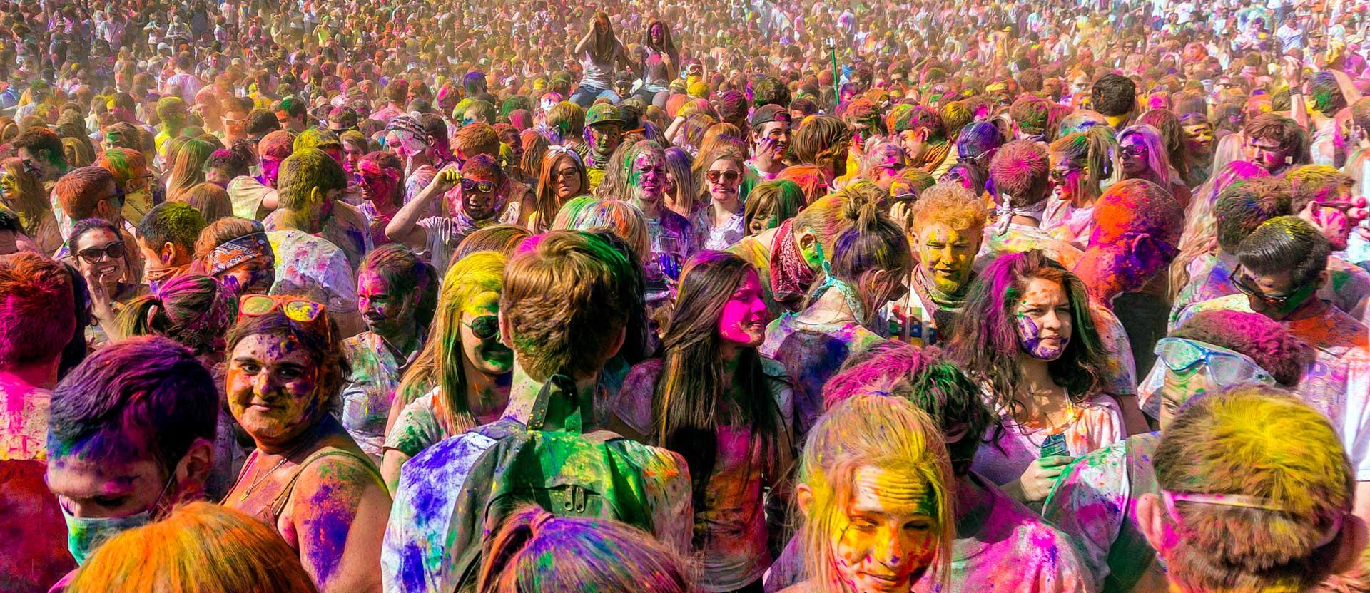 edinburgh holi one colour festival 2017